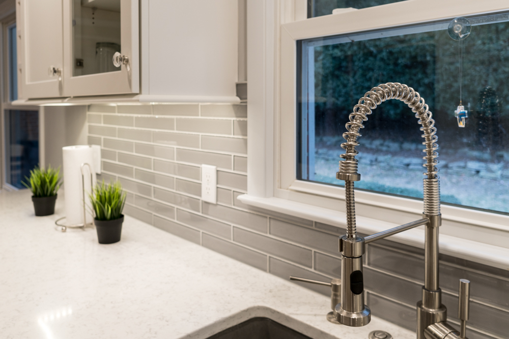 Custom Kitchen Sink and Fixtures in West Michigan Home