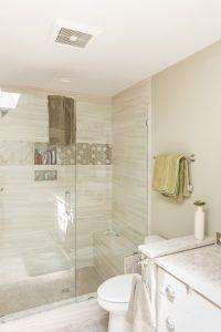 Glass Shower in Custom Bathroom Remodel in West Michigan