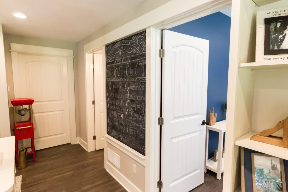 Chalk Wall Custom Living Space Remodel in West Michigan
