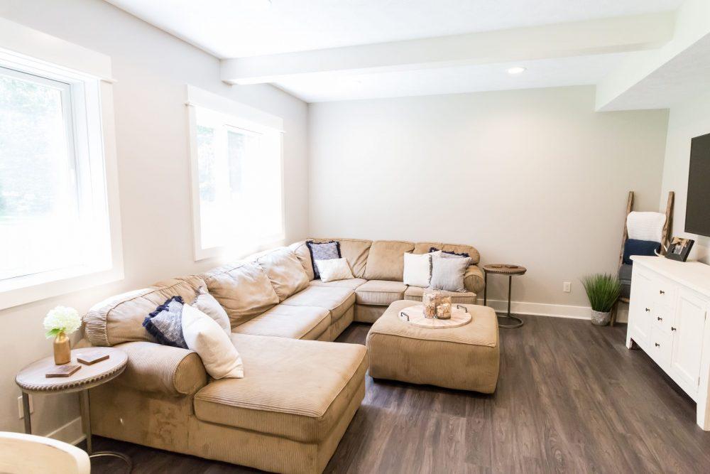 Beautiful Modern Custom Living Space Remodel in West Michigan